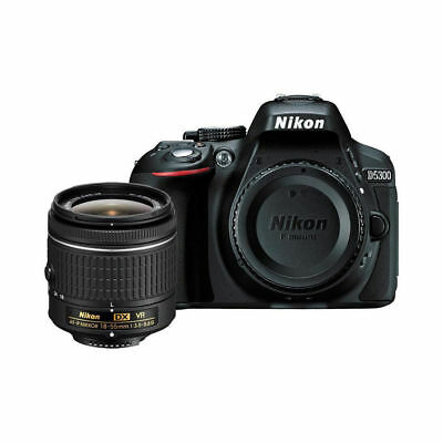 NEW Nikon D5300 Digital 24.2MP Camera w AF-P 18-55mm f/3.5-5.6G VR Lens US Model