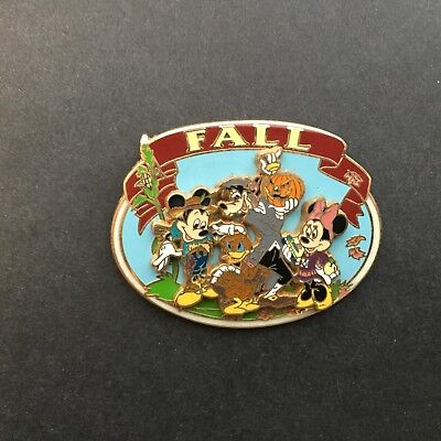 The Four Seasons Collection - Fall Mickey Minnie Donald & Goofy Disney Pin 40574