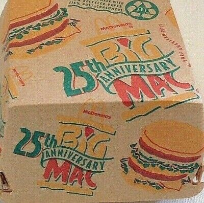 Vintage, VERY HARD TO FIND McDonald's Big Mac 25th Anniversary Box