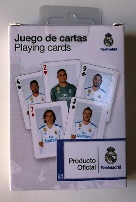 Playing Cards Oficial Real Madrid - 54 Cartas - Made In Spain