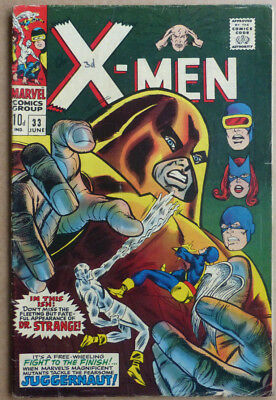 X-Men #33, Marvel Classic With Dr Strange Appearance, 1967.