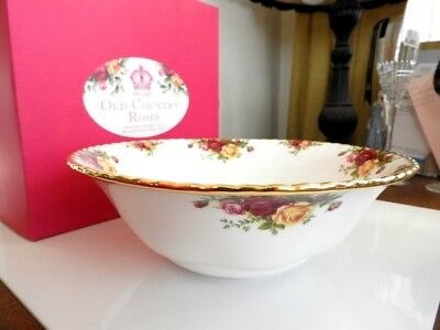 "Royal Albert OLD COUNTRY ROSES LARGE CENTERPIECE BOWL 10"" Serving - NEW / BOX!"
