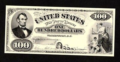 Proof Print or Intaglio Impression by BEP - Face of Proposed 1874 $100 U.S. Note