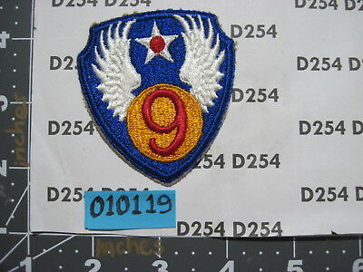 ww2 wwii corps AAF AAC cut edge color vintage  9th ARMY AIR FORCE  Patch