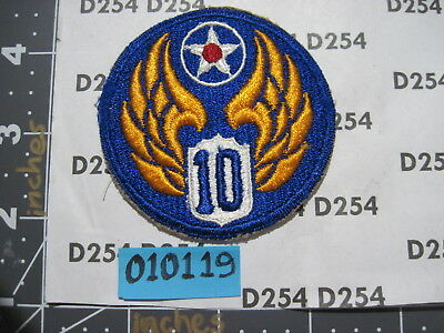 ww2 wwii corps AAF AAC cut edge color vintage 10th ARMY AIR FORCE Patch