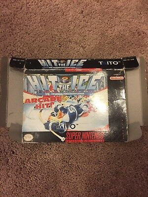 Snes Super Nintendo Hit The Ice Box Only