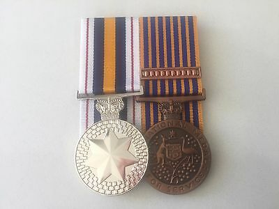 National Police Medal, National Medal, Full Size Replica Set.