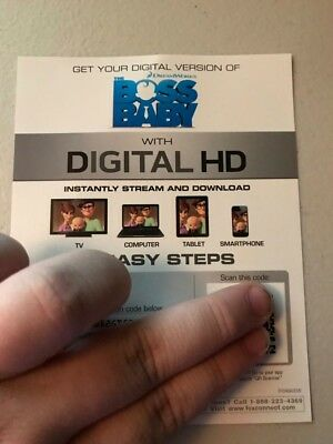 The Boss Baby -Digital HD iTunes CODE ONLY