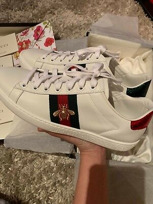 top quality cheap price reasonable price GUCCI ACE EMBROIDERED Trainers Sneakers - New UK Size 4 ...