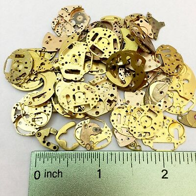 40 Grams Steampunk Watch Parts Gold Brass Plate Altered Art Watchmakers Lot Rose
