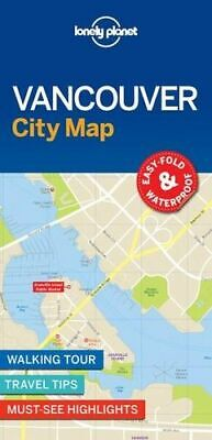 NEW Vancouver City Map By Lonely Planet Folded Sheet Map Free Shipping