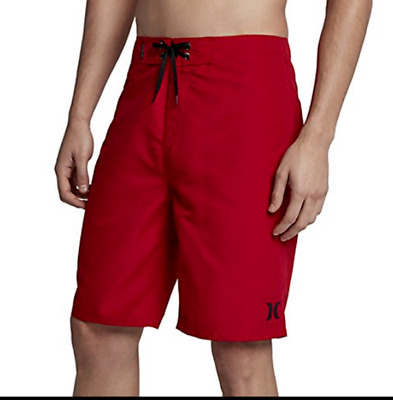 21e7f1b4b9 NEW HURLEY FORCE CORE daring red board shorts swim trunks 30 32 34 ...