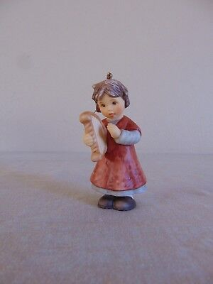 Goebel 2001 Girl Playing Harp Christmas Ornament Free Shipping