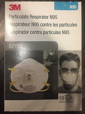 3M 8210V N95 Particulate Respirator W/Valve pack of 10