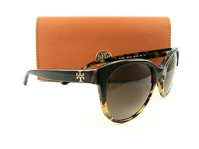 3b65902c7f4c New Tory Burch Sunglasses TY7095 Black Tortoise Brown Gradient 160113