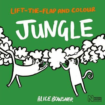 Lift-the-flap and Colour Jungle by Natural History Museum Book The Cheap Fast