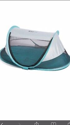 KidCo Baby Pea Pod Plus Infant/Child Screened in Travel Bed/Tent in Baby Blue