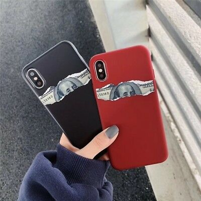Spoof Dollar Pattern Soft Matte Phone Case For iPhone XS Max XR 8 7 6S 6 Plus