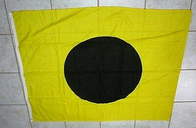 """Vintage Maritime Nautical signal flag 48"""" x 38"""" letter I Yellow and Black dot"""