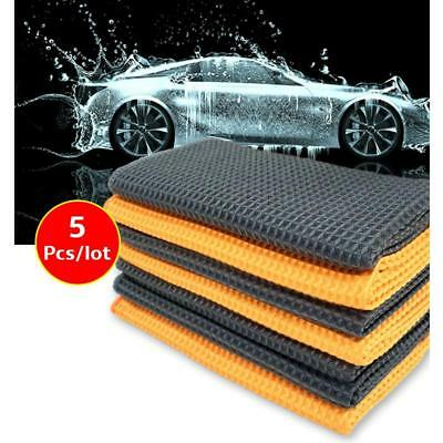 5Pcs Car Cleaning Towel Washing Cloth Rag Dry Microfiber Ultra Absorbent Soft