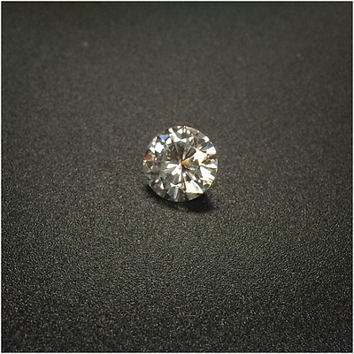 2.25 CT 8.5mm Real Loose Off White  Round Brilliant Cut Moissanite VVS1