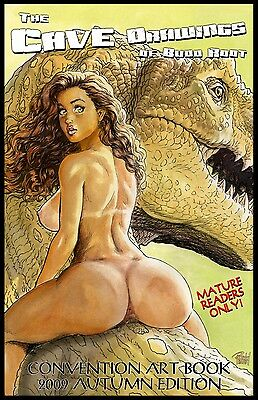 CAVEWOMAN CONVENTION BOOK - 2009 MATURE Virginia/Autumn SIGNED BY BUDD ROOT!