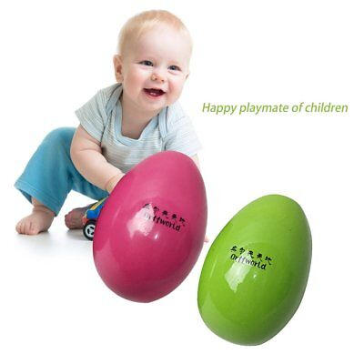 Orff World A Pair/SET Solid Children Kids Wooden Colorful Sand Egg Instrument GT