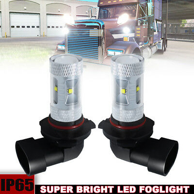 2x Super Bright White 9005 HB3 High Beam Fog Light Daytime Running Light Bulbs