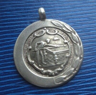 Sterling Silver Billiards or Snooker Fob Medal h/m 1947 Chester  -  not engraved