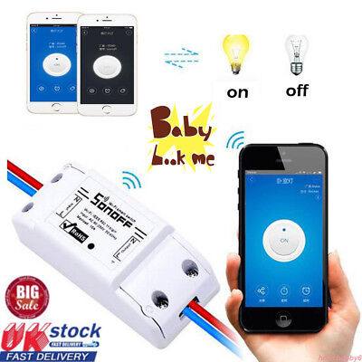 Sonoff Basic Smart Home WiFi Wireless Switch Module For IOS Android APP Ctrl UK#