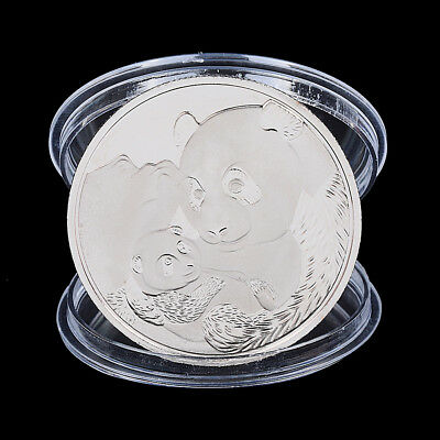 2019 China Panda Souvenir Coin Silver Plated Commemorative Coin Art Collection*B