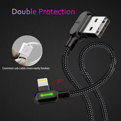 Cable USB Lightning acodado 90º para iPhone y Ipad datos TIEGEM carga rapida