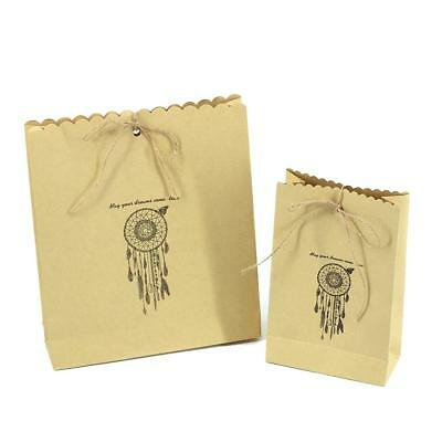 Brown Paper Bag Kraft Eco Recyclable Reusable Wedding Gift Carry Shopping Bags