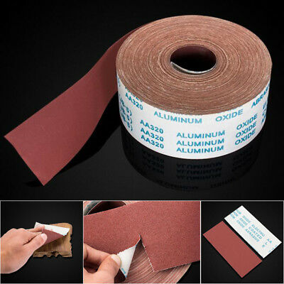 4'' 100mm Wide Emery Cloth Roll Aluminium Oxide Sanding Sandpaper 60 - 800 Grit