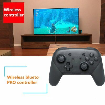 UK Bluetooth Wireless Pro Controller Gamepad +Charging Cable for Nintendo Switch
