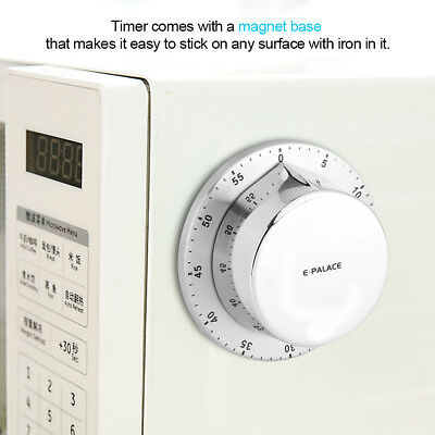 Kitchen Cooking Timer With Magnet Mechanical 60 Minutes Long Loud Alarm Sound
