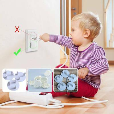 10 Pcs Baby Proofing US UK EU Outlet Plugs Socket Cover Electrical Protector