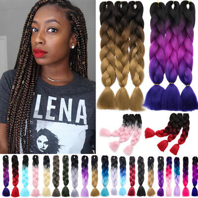 Jumbo Braiding Hair Extension Ombre Kanekalons Afro Twist Braids for human FH3