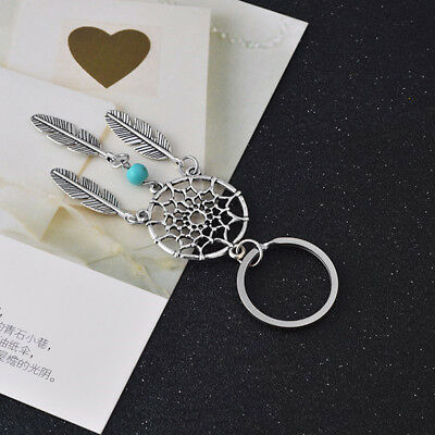Creative Feather Wind Chimes Dream Catcher Vintage Key Chain Bag Accessories 6A
