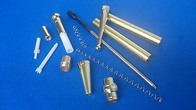 Woodturning Pen Kits - Slimline CLICK PEN - x1/x5 Gold/Chrome/Copper/Gun Metal