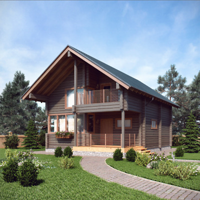 Glulam Timber Homes & Timber Bath-Houses (Prefabricated Housing Kits)