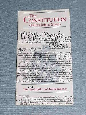 Pocket Constitution United States Declaration Independence Bicentennial 1991 NEW