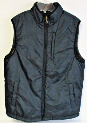 Men's Weatherproof Vintage Reversible Sherpa Lined Vest Gray Plaid Size: Medium
