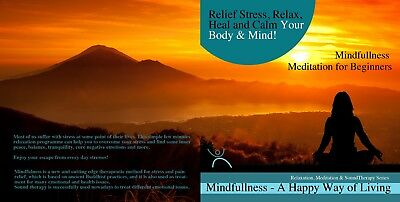 4x MINDFULLNESS MEDITATIONS ON 1 NEW BW CD- FOR STRESS RELIEF CALMING BODY MIND☆