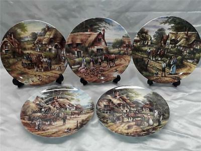 5 x Wedgwood / Bradford  Collectors Plates  COUNTRY DAYS