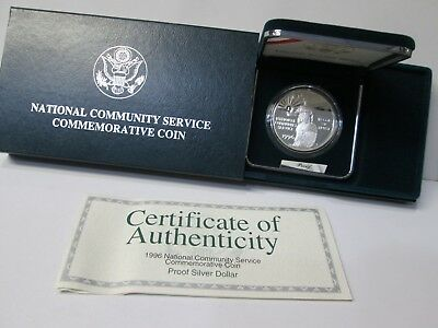 1996 National Community Service Proof Silver Dollar Commemorative