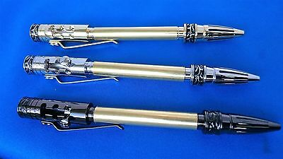 Woodturning Pen Kits  GEAR SHIFT Gold/Chrome/Gun Metal x1/ x3 /or Bushes/options
