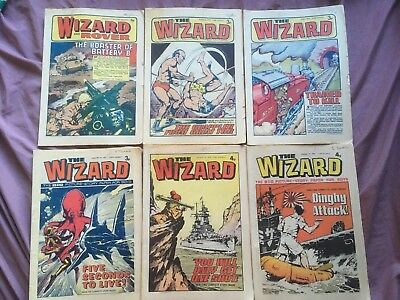 Vintage The Wizard Comics - 6 Issues from 1973 & 1974