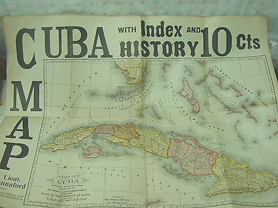 1897 Map Of Cuba By Lt.  E. Hannaford; Mast, Crowell & Kirkpat; Pre: Sp-Am  War