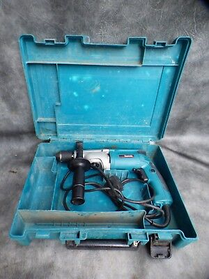 A SUPERB MAKITA HP2051 2 SPEED HAMMER DRILL WITH CASE 240v * NEW CHUCK FITTED *